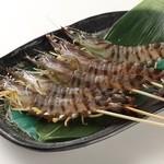 活き活き亭 - 料理写真:活き車海老を串焼きで食べられる所ってなかなか無いですよね!?本当の美味しさを大衆海鮮焼き価格で召し上がれるお店です(^^)