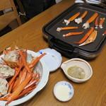 海の蔵 - 1602_海の蔵_巨大香住蟹は焼き蟹で頂きます