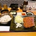 牛カツのタケル - 牛カツ温玉とろろ定食