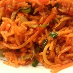 48189661 - ・Vegetable Tripipal Schezwan rice 本当にバスマティの唐辛子チャーハンと唐辛子ヤキソバなんです