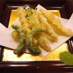 磯料理 まるけい - イカの天ぷら