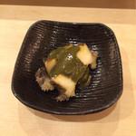 江草 - アワビ肝ソース
