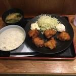 Kushikatsudengana - 唐揚げ定食500円
