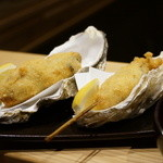 串揚げ 桂 - 牡蠣