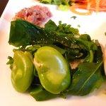 洋食家 さくら - そらまめと菜の花 生ハムと粒マスタード
