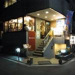 青山もっきんばーど - 2010/8月:表通りからちょっと入った店構え
