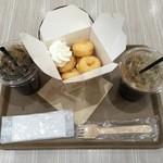 リルドーナッツ - オリジナルセット520円、アイスコーヒー220円です。