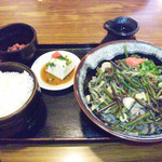 さの屋 - 山菜蕎麦定食