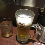 いきなりステーキ - ステーキ前の生ビール