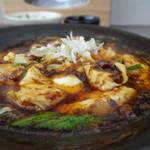 かかん - 四川麻婆豆腐のアップ