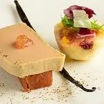 ル・プランタン - 地鶏の白肝のテリーヌ フォアグラ仕立て 自家栽培イチジクとブリオッシュトースト添え