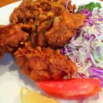 48229754 - 日替わり定食                       鶏の唐揚げ油淋鶏ソース