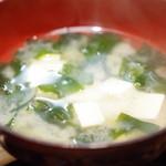 くじらのお宿 一乃谷 - 定食の味噌汁