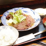 くじらのお宿 一乃谷 - くじらステーキ定食