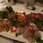 サカナバル グリル - 魚介のカルパッチョ