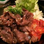 ビーフボウル - 焼肉丼肉大盛り