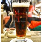 クラフトビールタップ - 「ヨークシャー レッドラガー」… ベリーのような風味。美味!(2016.02)
