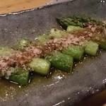 福わらい - アスパラのアンチョビ焼き