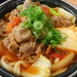 吉野家 - トマト牛鍋定食 630円 生たまご添え60円