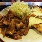 キッチン男の晩ごはん 女の昼ごはん - 豚の味噌焼きコンビ700円