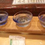 金沢まいもん寿司 - 石川の飲み比べ3種2回目
