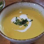 木のいえ - Bランチ の スープ(かぼちゃのポタージュ)