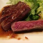 肉酒場 GZダイニング - ミディアムレアのステーキ(「飲み放題90分+料理2品」1980円の一品)