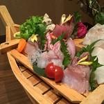日本酒スローフード 方舟 - 五点盛り
