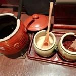 焼肉 味道苑 大手町 - タレと薬味