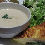 ポワンタージュ - スープ&キッシュ プレート