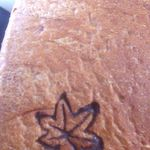 48259481 - 黒糖食パン(ΦωΦ)紅葉の焼き印入❀@2015.09