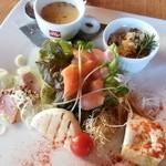 イタリアンダイニングカフェ チィーボ - 前菜4種と季節のスープ