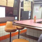 ラーメン荘 おもしろい方へ - L型カウンタ〜( ´ ▽. ` )ノ