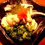 48263098 - 酒家鶏処 炭寅  みつせ鶏の白子 (食感が鶏じゃないみたいでした。) fromグリーンロール