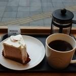 スターバックス・コーヒー - ライトノートブレンドプレス&さくらシフォンケーキ