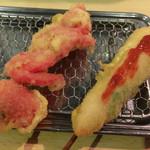 串ゆう - 紅生姜&ササミしそ梅肉ソース