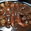 宅配カレー マトバ - 料理写真:マトバスペシャル(1,480円)牛ステーキ、大海老フライ、タンドリーチキン、マトバカレー