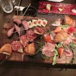 又三郎 本店 - 前菜盛り合わせ2人前 2,600円。2人前でも十分ん、4人で分け分け。