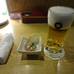 留萌マルシェ - 生ビール:626円
