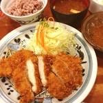 とんかつ浜勝 イオン千葉ニュータウン店 - チキンカツ定食☺︎