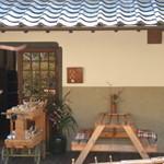 もみのき食堂 - 外観① 看板は栗の木で出来ているそうです^^