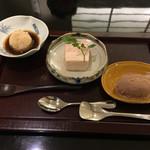 日本料理 太月 - 甘味 苺のババロア 葛餅 チョコレートアイス 2016-2