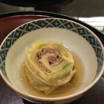 日本料理 太月 - 和ロースの白菜巻 ふり柚子 2016-2