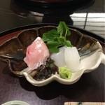 日本料理 太月 - お造り 甘鯛一塩 あおり烏賊 2016-2