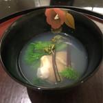 日本料理 太月 - 蛤 潮仕立て 花菜 蕨 木の芽と共に 2016-2