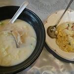 青蘭 - 豚骨ラーメン+チャーハン 850円