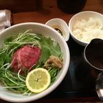 48284006 - 松坂牛麺1030円&松坂牛ヘットごはん290円