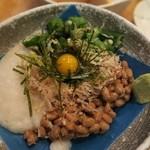 多古菊 - ネバネバパラダイス¥450 山芋・オクラ・納豆・卵