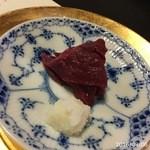 柚木元 - 本州鹿刺しと辛み大根