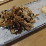 魚八 - 帆立ヒモの燻製 ¥290